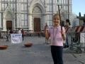 In Piazza Santa Croce a Firenze