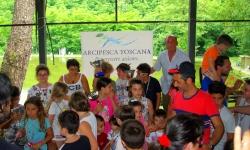 Arcipesca con i giovani al Lago dei Pini a Pistoia