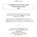 Campionati Italiani a Box - 1a Prova