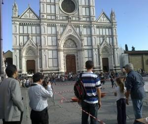 """""""Picra"""" in Piazza Santa Croce a Firenze"""